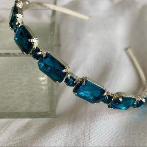 2for23$ 🌟Host Pick🌟 Headband Blue Zirconia